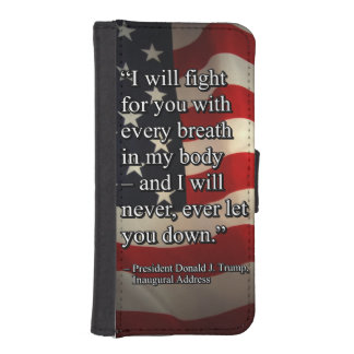PRES45 FIGHT FOR YOU iPhone SE/5/5s WALLET CASE