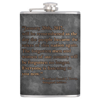 PRES45 JANUARY 20TH HIP FLASK