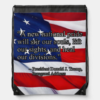 PRES45 NATIONAL PRIDE DRAWSTRING BAG