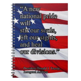 PRES45 NATIONAL PRIDE SPIRAL NOTEBOOK