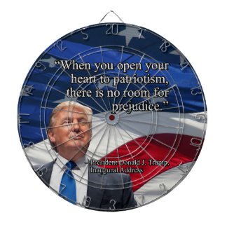 PRES45 OPEN YOUR HEART DARTBOARD