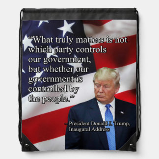 PRES45 WHAT TRULY MATTERS DRAWSTRING BAG