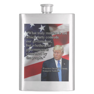 PRES45 WHAT TRULY MATTERS HIP FLASK