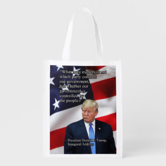 PRES45 WHAT TRULY MATTERS REUSABLE GROCERY BAG