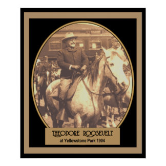 Pres. Roosevelt at YellowStone 1904 POSTER