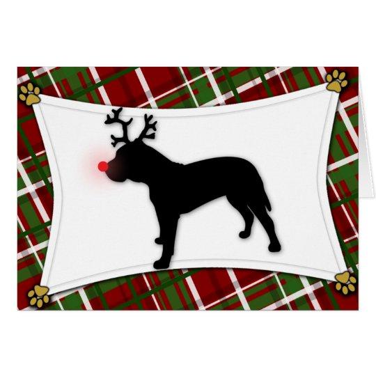 Presa Canario Reindeer Christmas Card