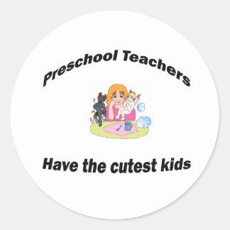 preschool and kids round sticker