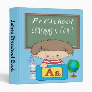"""Preschool Boy Learning is Cool 1"""" Binder"""