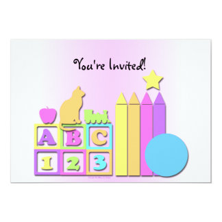 Preschool Daycare Children's Invitation