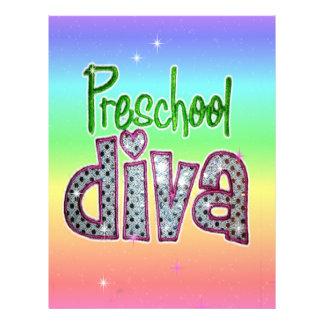 Preschool Diva School Grade Kids Girl Sparkle Custom Letterhead