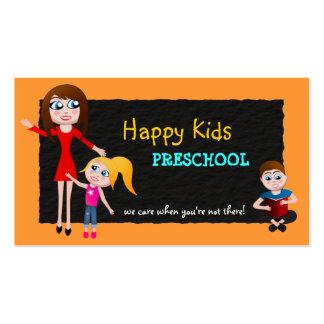 Preschool Grade School Teacher Business Cards