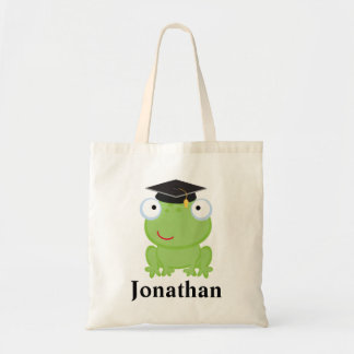 Preschool Graduate personalized frog Gift Idea Tote Bag