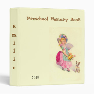 Preschool Memory Book Binder with Vintage Image