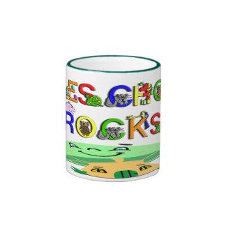 Preschool Rocks Mushroom Ringer Coffee Mug