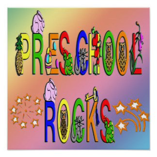 Preschool Rocks - Stars Poster