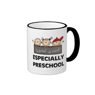 Preschool School is Cool Tshirts and Gifts Ringer Mug
