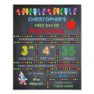 Preschool Sign Boy,low price,Chalkboard,8x10 Photo Print