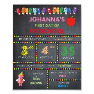 Preschool Sign Girl,low price,Chalkboard,8x10 Photograph
