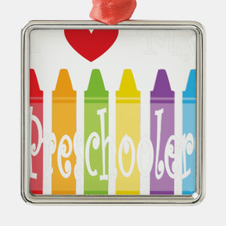 preschool teacher2 metal ornament