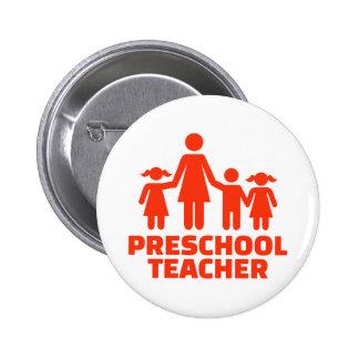 Preschool teacher 2 inch round button