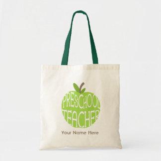 Preschool Teacher Bag - Green Apple