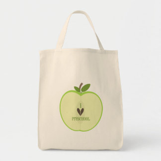 Preschool Teacher Bag - Green Apple Half