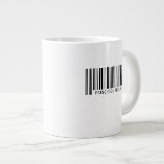 Preschool Teacher Barcode Large Coffee Mug