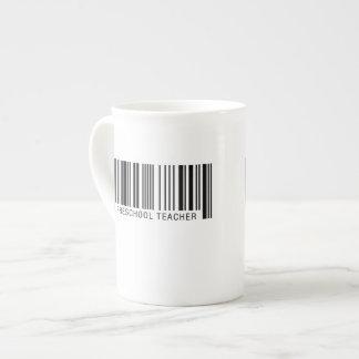 Preschool Teacher Barcode Tea Cup