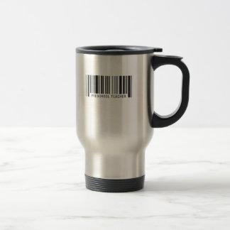 Preschool Teacher Barcode Travel Mug