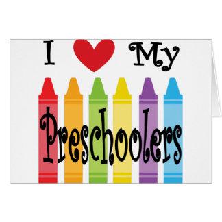 preschool teacher card
