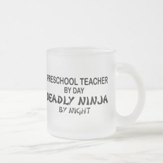 Preschool Teacher Deadly Ninja Frosted Glass Mug