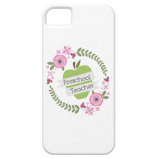 Preschool Teacher Floral Wreath Green Apple iPhone 5 Cases
