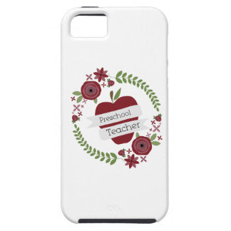 Preschool Teacher Floral Wreath Red Apple iPhone 5 Covers