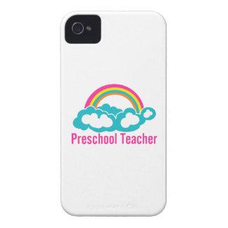 Preschool Teacher Rainbow Cloud iPhone 4 Case-Mate Case