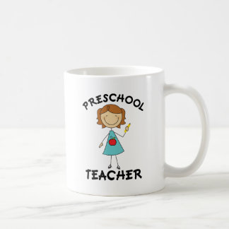 Preschool Teacher Stick Figure Gift Classic White Coffee Mug