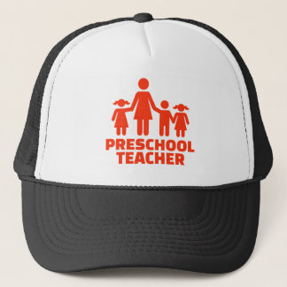 Preschool teacher trucker hat