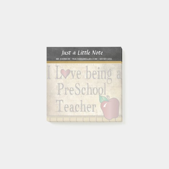 Preschool Teacher | Vintage Style Post-it Notes