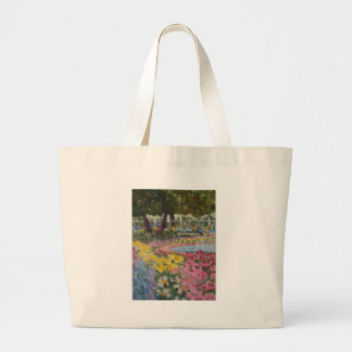 Prescott Park Garden Poppies Portsmouth NH Large Tote Bag