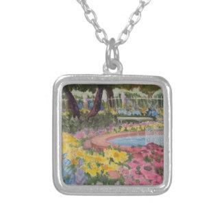 Prescott Park Garden Poppies Portsmouth NH Silver Plated Necklace