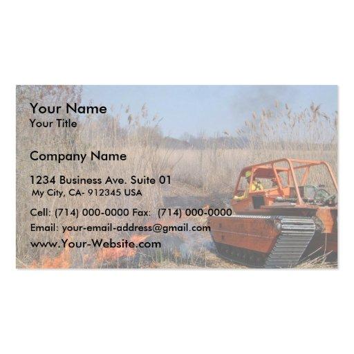 Prescribed burn at Prime Hook National Wildlife Re Business Cards