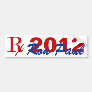 Prescription 2012 Candidate Ron Paul Bumper Stick Bumper Sticker