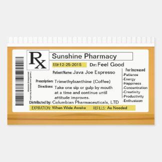 Prescription for Coffee Sticker