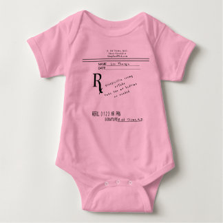 Prescription Pad - Sleepicillin by B. Ed Thyme MD Baby Bodysuit