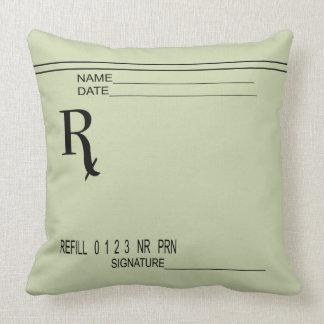 Prescription Pad T-shirt - Rx Pharmacist T-shirt - Throw Pillow