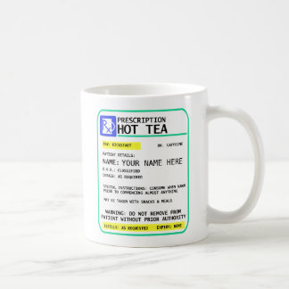 Prescription Tea Mug, funny mug