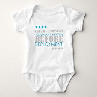 Present between deployments baby bodysuit