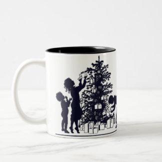 Present Sneaking Two-Tone Coffee Mug