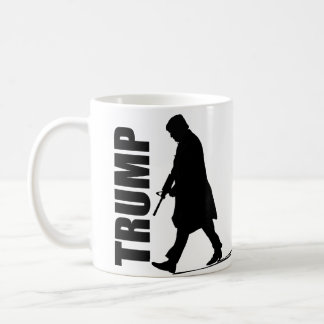 Present Trump Silhouette (Holding Gun) Coffee Mug
