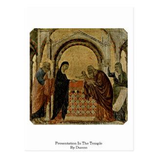 Presentation In The Temple By Duccio Postcard