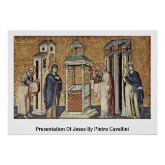 Presentation Of Jesus By Pietro Cavallini Poster